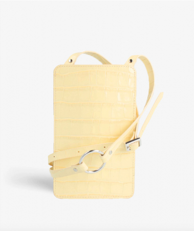 Smart Crossbody Bag Croco Pastell Gul