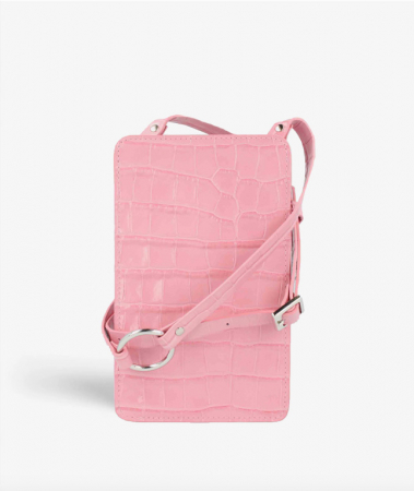 Smart Crossbody Bag Croco Pastell Rosa