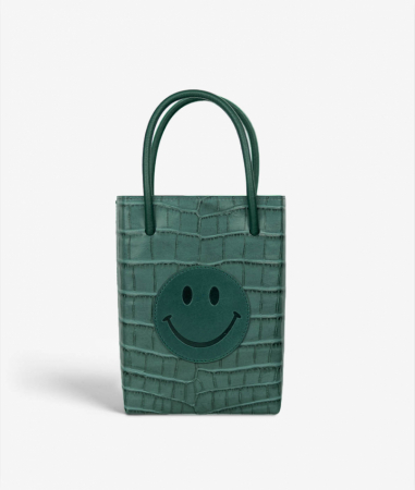 The Essential Crossbody Bag Smiley Crocodile Teal
