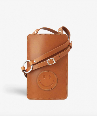 The Smart Crossbody Bag Vegetable Tanned Smiley Cognac