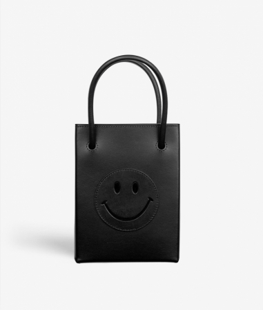 The Essential Crossbody Bag Vegetable Tanned Smiley Black