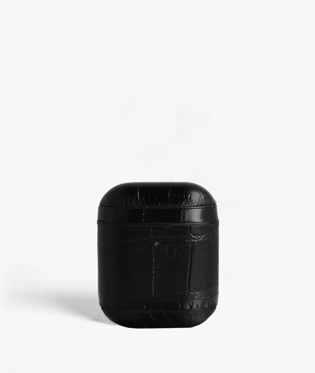 Airpod Case Crocodile Black
